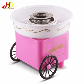 Household automatic cotton candy maker electric colorful hard candyfancy DIY mini commercial cotton candy machine (Pink)