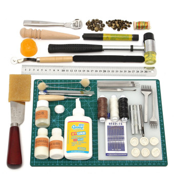 Tools Leather Craft Tool Kit Leather Hand Sewing Tool Set Professional Product - Intl Price Philippines