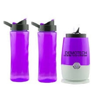Harga Demotech Mix & Go Personal Blender with 2 Tumbers (Purple)
