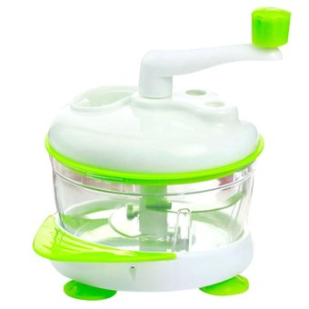 Harga Kitchen Hand-powered Vegetable Chopper Mincer Blender (Green)