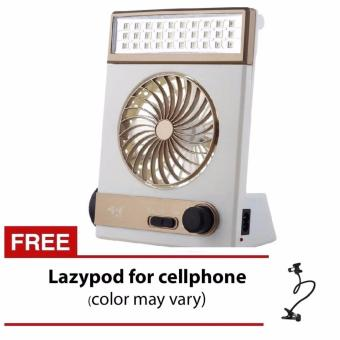 Jr-5591 Solar Light Fan With Free Lazypod for Cellphone-color may vary Price Philippines