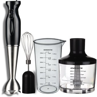 Robust Stainless Steel Immersion Hand Blender with Beaker, Whisk Attachment and Food Chopper Black - Intl Price Philippines