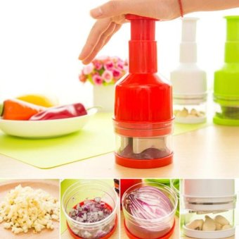 Harga Good Service Mini Vegetable Garlic Ginger Onion Cut Chopper Cutter Kitchen Tool Red - intl