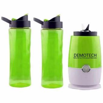 Harga New 2017 Best Quality Demotech Mix & Go Personal Blender with 2 Tumbers (GREEN)