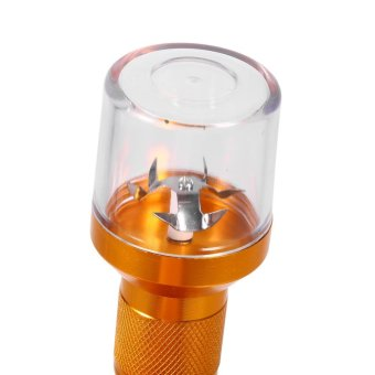 Aluminum Alloy Electric Smoke Spice Crank Grinder Herb (Gold) - intl Price Philippines