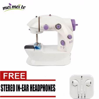 2-Speed Mini Electric Sewing Machine Kit (White/Lavender) Price Philippines