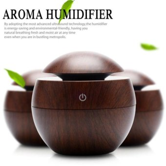 Harga Wooden Grain Aromatherapy Diffuser + Air Humidifier Usb Led Lightultrasonic Cool Mist Aromas Humidifier Air Diffusers Fragrances Foroffice Home Car Usdd - intl
