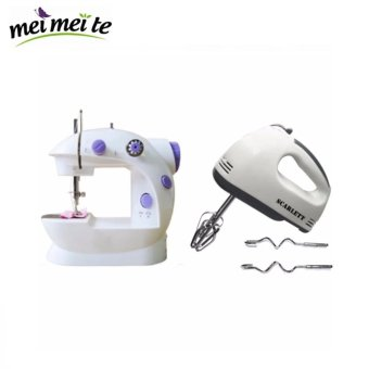 Hand Mixer (White) with 2-Speed Mini Electric Sewing Machine Price Philippines