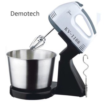 Harga Demotech 7 Speed Stand Mixer with Stainless Steel Bowl
