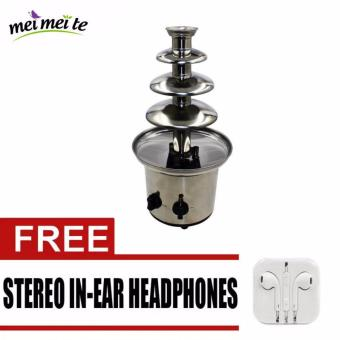 4-Layer Chocolate Fountain (Silver) with FREE Earphone Price Philippines