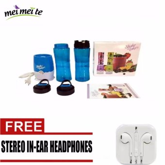 Shake N Take 3 Tumbler and Blender 16oz (Blue) with FREE Stereo Earphone Price Philippines
