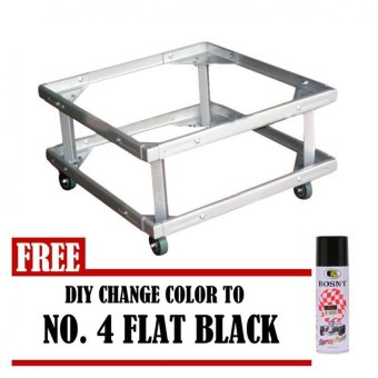 Harga Prostar Lifted Refrigerator Base / Washing Machine Base / Range Oven Stand Dura Base Adjustable with Wheels (White) with Free DIY Change Color No 4 (Flat Black)