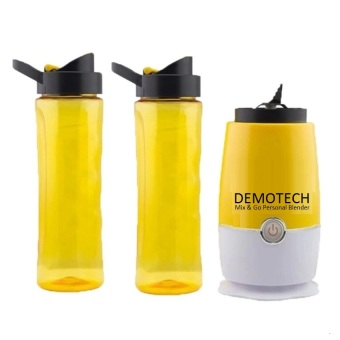 Harga Demotech Mix & Go Personal Blender with 2 Tumbers (Yellow)