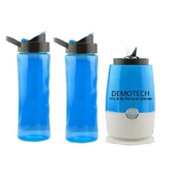 Harga Demotech Mix & Go Personal Blender with 2 Tumbers (Blue)