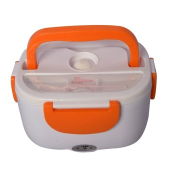 Harga Three Layers Electronic Heating Lunch Box (Orange)