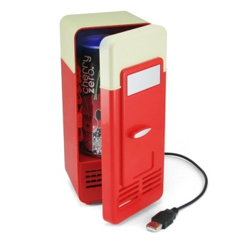 Harga USB Powered Refrigerator (Red)
