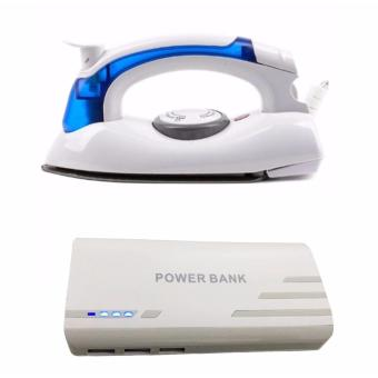 Hetian Portable Travel Mini Steam Electric Flat Iron with Pinoy Puff PF-102 20000mAh 3-Port USB Smart Power Bank for Smartphones and Tablet with LED Light (White) Price Philippines