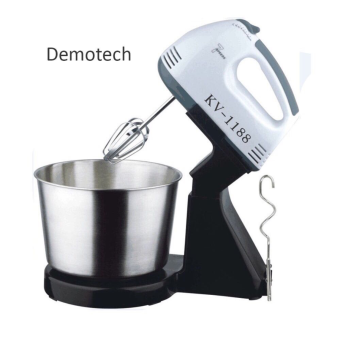 Harga Demotech 7-Speed Stand Mixer with Stainless Bowl (Black)