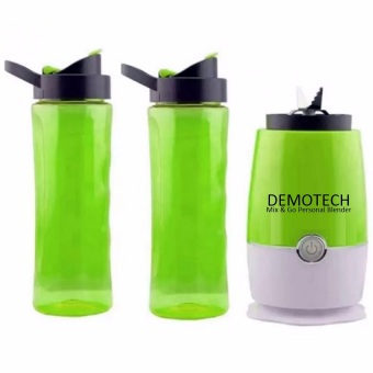 Harga Demotech Mix & Go Personal Blender with 2 Tumbers (Green)
