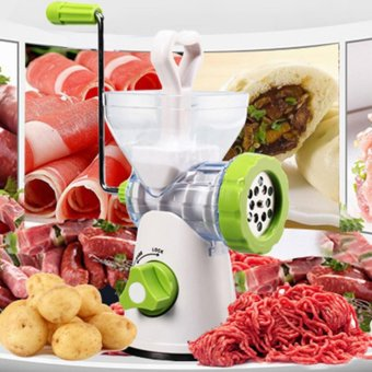 (Imported)Multifunctional Stainless Steel Meat Grinder Hand StandMixer Crank Sausage Stuffer Pasta Maker CZDKAC - intl