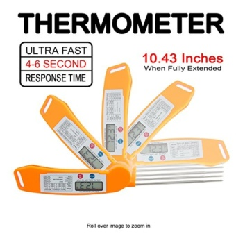 Instant Read Meat Thermometer with Probe, Magnetic Backing - Accurate Ultra-fast Food Thermometer for Grill, Baking, Cooking and More - intl - 3