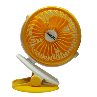 Iwata CM16RHF-06 Portable Rechargeable Fan (Yellow)