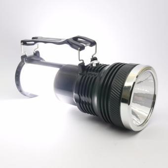 J&J High Quality YJ-2881T Solar and Rechargeable PortableLamp/Flashlight (Black) - 5