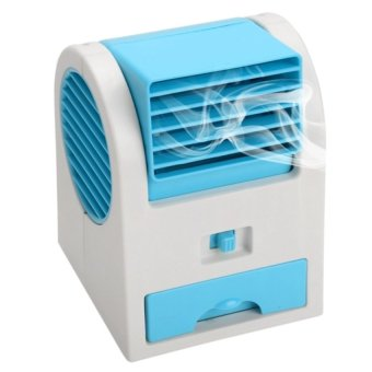 J&J USB Mini Air Conditioning Fan Cooler (Blue)