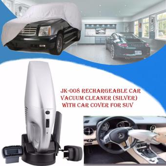 JK-008 Rechargeable Car Vacuum Cleaner (Silver) with Car Cover FOR SUV