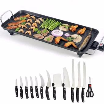 JNS-DKP1- (S) Electric Baking Grill Tray Economical And High-Efficiency With Miracle Blade World Class 13-piece Knife Set