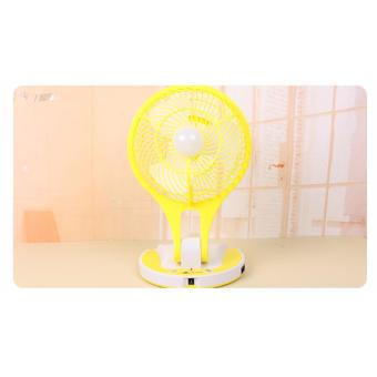 JR-5580 Portable Rechargeable LED Light with Mini Fan (Yellow) Price Philippines