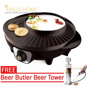 King's Korean Hot Pot, Shabu-Shabu and BBQ Grill Electronic Hotpotand Grill 36cm with Free Beer Butler Beer Tower Price Philippines