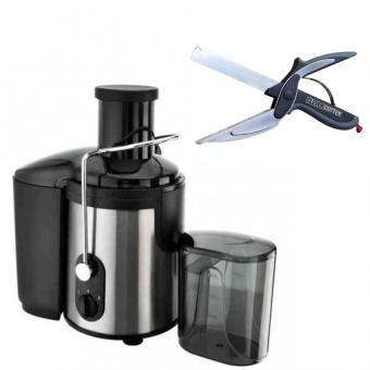 Koii Power Juicer 2L (Black) with 2 in 1 Clever Cutter Knife &Cutting Board Scissors Slicers