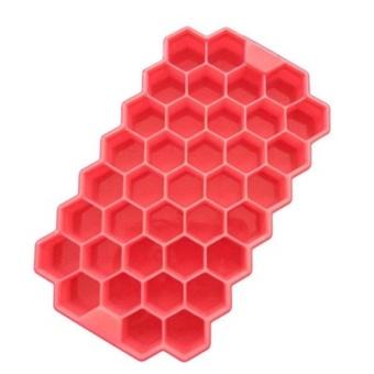 Kuhong Ice Cube Tray Honeycomb Ice Lattice Mold With Cover Frozen Ice Cream - intl - 3