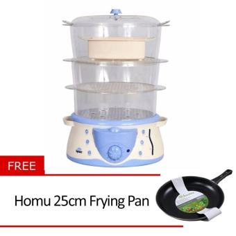 Kyowa Electric Steamer (KW1901) with Free Homu 25cm Frying Pan