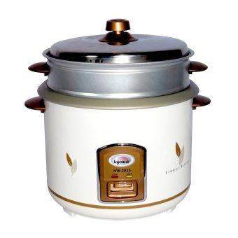 Kyowa KW-2025 Rice Cooker with Steamer (White/Brown)