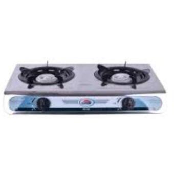 Kyowa KW-3506 Fuel Efficient with Cast Iron Double Burner (Silver)