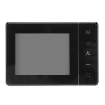 LCD Digital Touch Screen Temperature Controller Programmable AirConditioner Thermostat Black - intl - 3