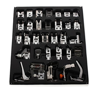 Leegoal Domestic Sewing Machine Presser Foot Set Kit For Janome Brother Singer NewHome/ Elna/Toyata, Singer (32pcs) - intl Price Philippines