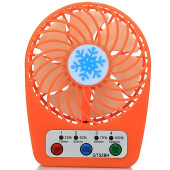 LHR GT328H Mini Micro USB Rechargeable Portable Fan (Orange) Price Philippines