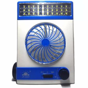 LOVE&HOME 3-in-1 Solar Power Rechargeable LED LightFan(Gold/Blue) Set of 2 - 2