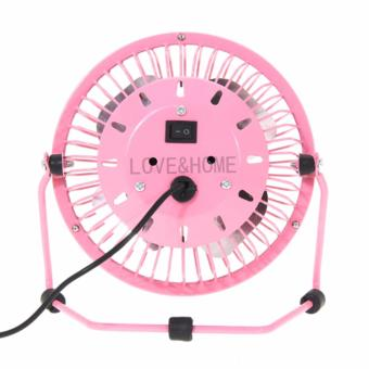 LOVE&HOME Metal 4 Fanblades USB Mini Cooling Fan Buy One Take One (Pink) - 5