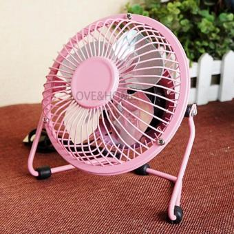 LOVE&HOME Metal 4 Fanblades USB Mini Cooling Fan Buy One Take One (Pink) - 4