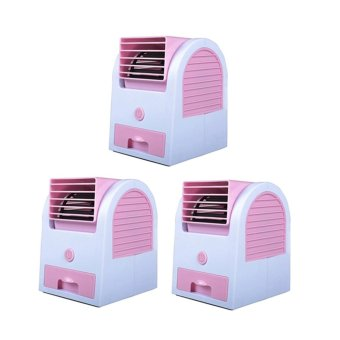 LOVE&HOME USB Electric Air Conditioning Mini Fan Air cooler(Pink) Set of 3