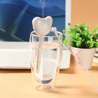 LT365 Bird Shape Air Mist Ultrasonic USB Air Humidifier Stick Air Purifier with LED Timing Function for Bedrooms Living Rooms Car Home and Office