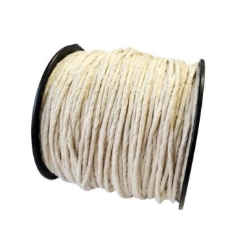 MagiDeal 100m White DIY Braided Pure Cotton Rope Cord String forClothing 2mm - intl