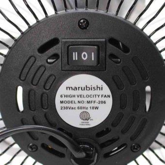 Marubishi MFF-206 High Velocity Fan (Black/Silver) - 5