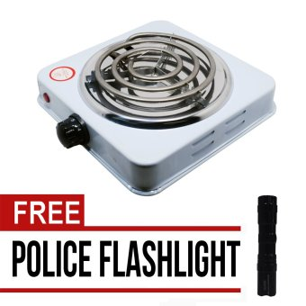 Microbishi MES-1010A Hot Plate Single Electric Stove (White) withfree Mini Police Flashlight (Black) Price Philippines