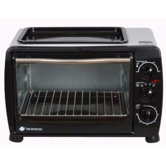 Micromatic KWS-12B Automatic Oven Toaster (Black)