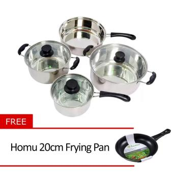 Micromatic MCS-7 Cookware For Induction with Free Homu 20cm Frying Pan
